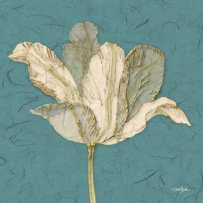 Muted Teal Behind Tulip