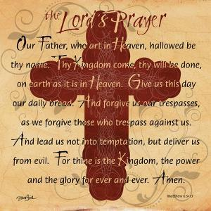 The Lords Prayer Cross by Diane Stimson