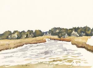 Minimalist Coastline II by Dianne Miller