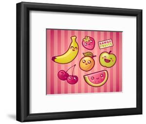 Kawaii Smiling Fruits by diarom