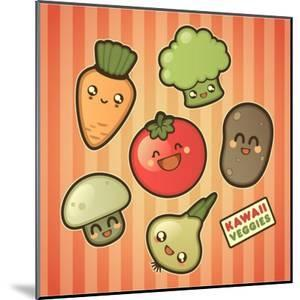 Kawaii Smiling Vegetables by diarom