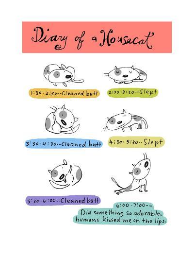 Diary of a Housecat--Art Print