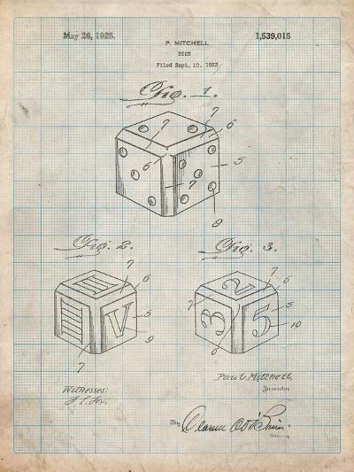 Dice 1923 Patent-Cole Borders-Art Print