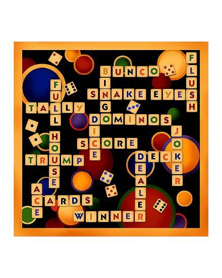 Dice, Bunco and Dominos-Kate Ward Thacker-Giclee Print