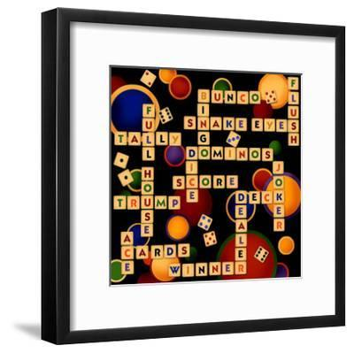 Dice, Bunco and Dominos-Kate Ward Thacker-Framed Giclee Print