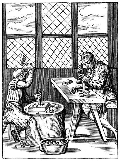 Dice Maker's Workshop, 16th Century-Jost Amman-Giclee Print