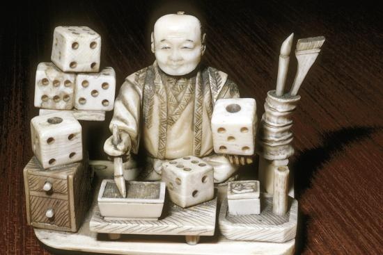 Dice painter, Japanese, c1860. Artist: Unknown-Unknown-Giclee Print