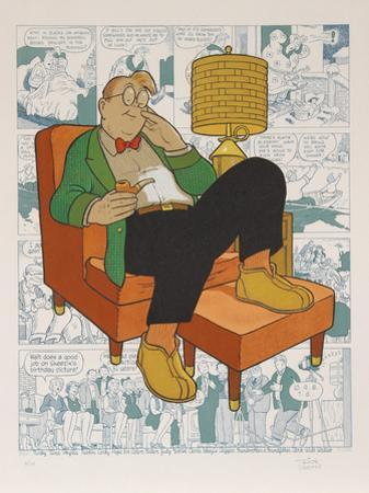 Untitled - Armchair Nap (Gasoline Alley) by Dick Moores