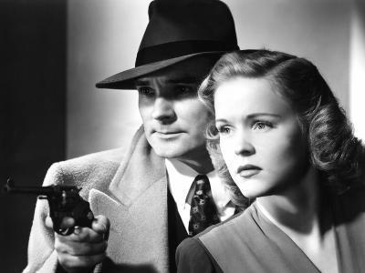 Dick Tracy's Dilemma, Ralph Byrd, Kay Christopher, 1947--Photo