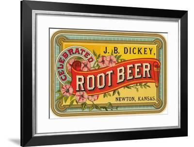 Dickey Root Beer Label--Framed Art Print