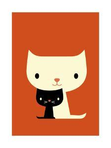 Two Cats by Dicky Bird