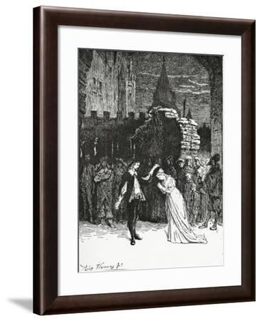Didier Bids Farewell to Marion De Lorme,19th Century--Framed Giclee Print