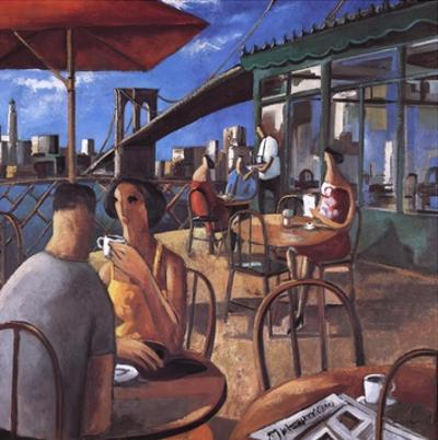 Cafe by the River by Didier Lourenco