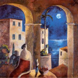 Mirando la Luna by Didier Lourenco