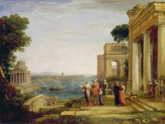 Dido and Aeneas, 1675/1676-Claude Lorraine-Giclee Print