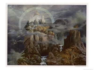 Die Gralsburg, The Castle of the Grail-Hans Rudolf-Giclee Print