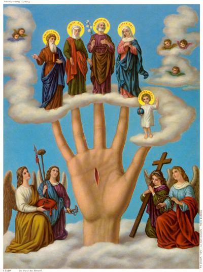 Die Hand der Allmacht--Art Print