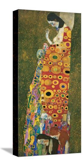Die Hoffnung II-Gustav Klimt-Stretched Canvas Print