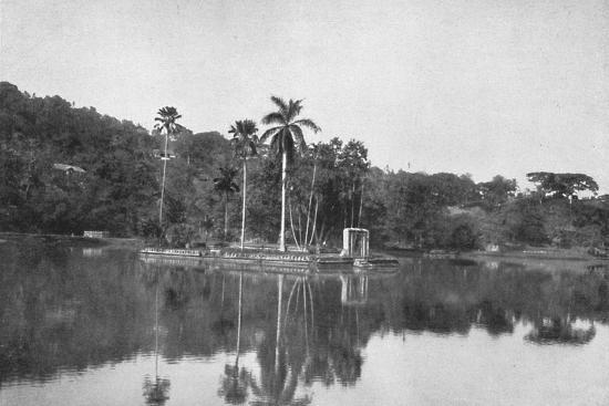 'Die Insel im See von Kandy', 1926-Unknown-Photographic Print