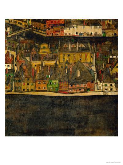 Die Kleine Stadt (II) or Kleine Stadt (III) Assembled from Separate Parts-Egon Schiele-Giclee Print