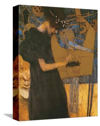 Die Musik-Gustav Klimt-Stretched Canvas Print
