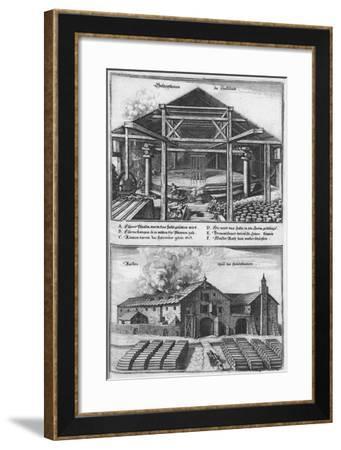 Die Saltzpan Zu Hallstätt, 1679-Caspar Merian-Framed Giclee Print
