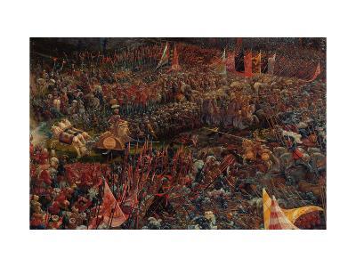 Die Schlacht Bei Issus 333 V.Chr. (Alexanderschlacht), 1529. Detail-Albrecht Altdorfer-Giclee Print