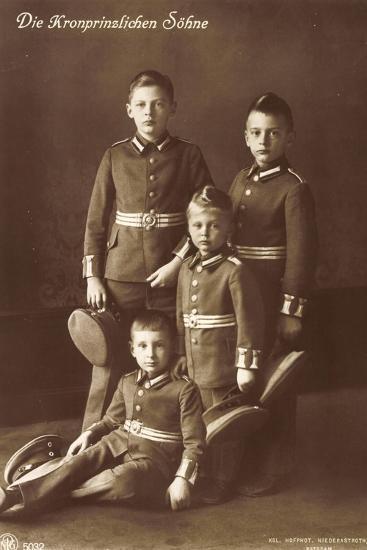 Die Vier Kronprinzlichen Söhne in Uniform, Npg--Giclee Print