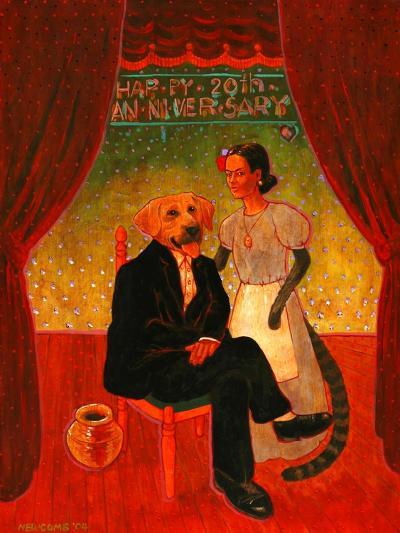 Diego and Frida-John Newcomb-Giclee Print