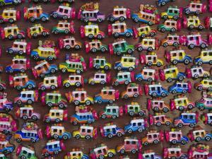 Hand-Crafted Souvenirs at Chichicastenango Sunday Market by Diego Lezama