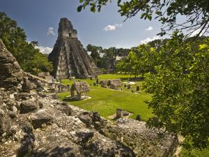 The Great Plaza at Tikal Archeological Site by Diego Lezama