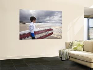 Young Surfer at Meron Beach by Diego Lezama