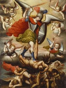 St Michael the Archangel. Cuzco School, 17th Cent, c.1675 by Diego Quispe Tito