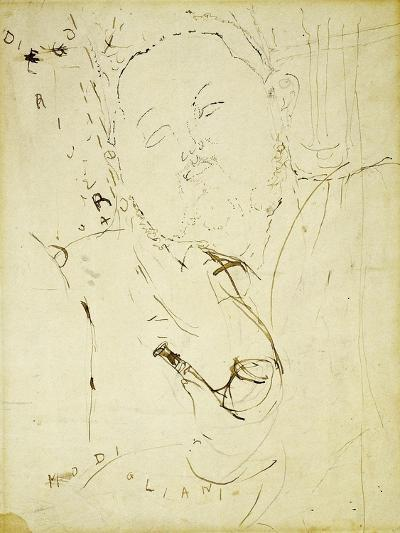 Diego Rivera, 1915-Amedeo Modigliani-Giclee Print
