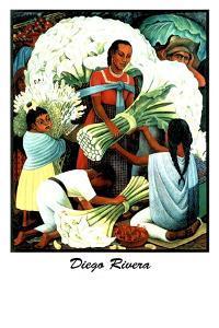 Diego Rivera (Vendedores de Flores) by Diego Rivera