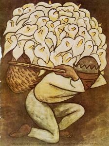 El Vendedora De Alcatraces by Diego Rivera