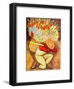 El Vendedora De Flores by Diego Rivera