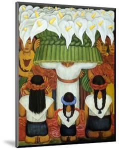 Flower Festival: Feast of Santa Anita, 1931 by Diego Rivera