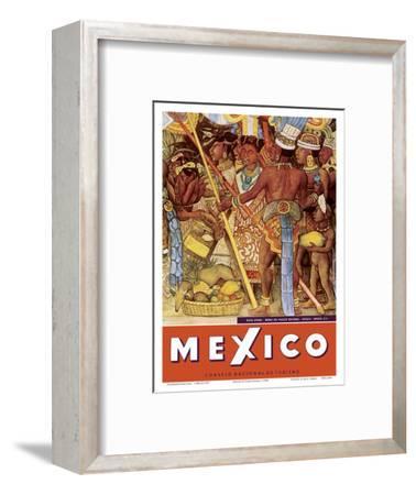 Mexico - Aztec Indians - Detail from Mural - National Palace (Palacio Nacional) - Mexico City