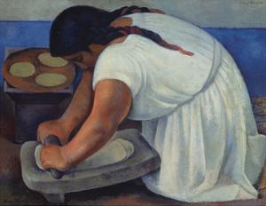 The Grinder (la molendera), 1926 by Diego Rivera