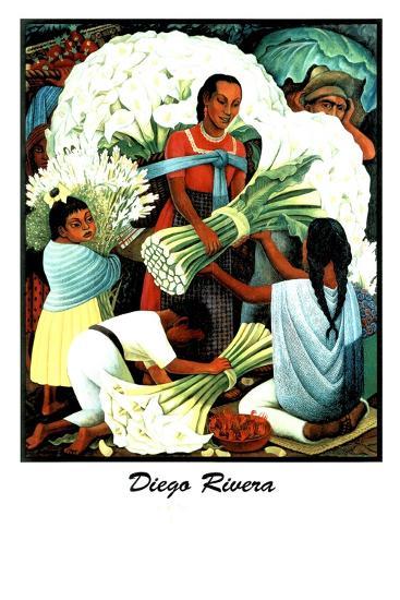 Diego Rivera (Vendedores de Flores)-Diego Rivera-Art Print