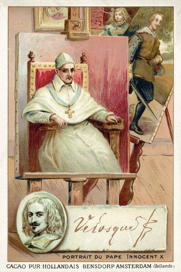 Diego Velasquez, Spanish Painter, and Portrait of Pope Innocent X--Giclee Print