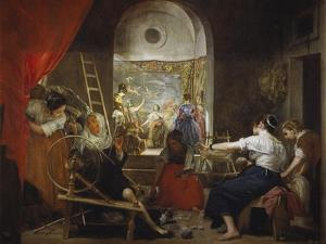 Las Hilanderas (The Fable of Arachne, or the Tapestry Weavers), about 1657 by Diego Velazquez