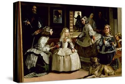 Las Meninas, Detail of the Lower Half of the Family of Philip IV (1605-65) of Spain, 1656