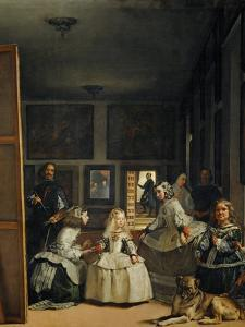 Las Meninas (With Velazquez' Self-Portrait) or the Family of Philip IV, 1656 by Diego Velazquez