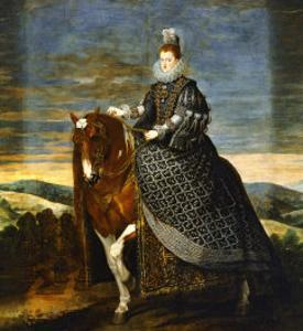 Margarete of Austria (1584-1611), Wife of Philip III, on Horseback, 1636 by Diego Velazquez