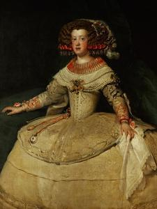 Maria Teresa (1638-1683), Infanta, Daughter of King Philip IV of Spain and His Wife, Isabella, 1653 by Diego Velazquez