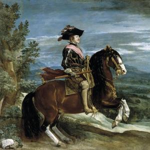 Philip Iv On Horseback, 1634-1635, Spanish School by Diego Velazquez