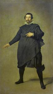 Portrait of the Buffoon Pablo De Valladolid, 1632/34 by Diego Velazquez