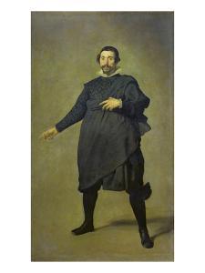 Portrait of the Buffoon Pablo De Valladolid, 1632/34 by Diego Velazquez